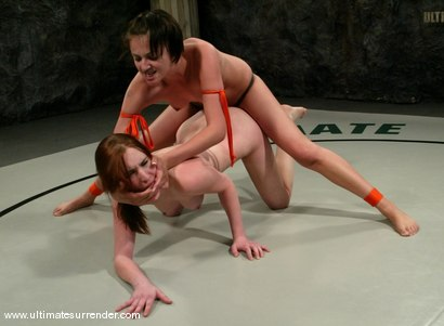 Photo number 15 from Athena (0-1) Ranked 13th<br>The Kitten(0-0) Not Ranked shot for Ultimate Surrender on Kink.com. Featuring Calico and Naudia Nyce in hardcore BDSM & Fetish porn.