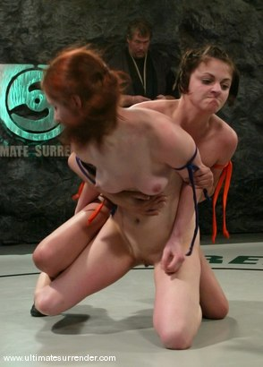 Photo number 8 from Athena (0-1) Ranked 13th<br>The Kitten(0-0) Not Ranked shot for Ultimate Surrender on Kink.com. Featuring Calico and Naudia Nyce in hardcore BDSM & Fetish porn.