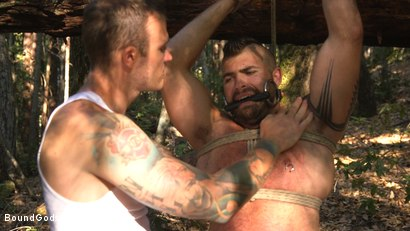 Photo number 7 from Deep Woods Domination: Chapter 1 shot for Bound Gods on Kink.com. Featuring Jonah Fontana and Christian Wilde in hardcore BDSM & Fetish porn.
