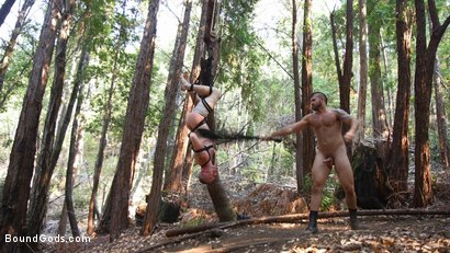 Photo number 7 from Deep Woods Domination: Chapter 3! shot for Bound Gods on Kink.com. Featuring Jonah Fontana and Damien Moreau in hardcore BDSM & Fetish porn.