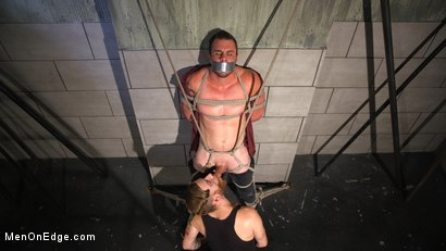 Photo number 12 from Straight Beefcake Stud Gets Edged  shot for Men On Edge on Kink.com. Featuring Darin Silvers in hardcore BDSM & Fetish porn.