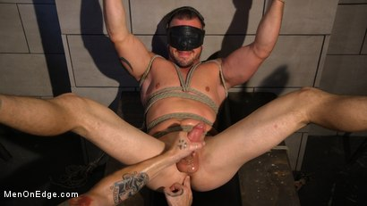 Photo number 13 from Straight Beefcake Stud Gets Edged  shot for Men On Edge on Kink.com. Featuring Darin Silvers in hardcore BDSM & Fetish porn.