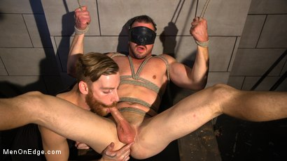 Photo number 14 from Straight Beefcake Stud Gets Edged  shot for Men On Edge on Kink.com. Featuring Darin Silvers in hardcore BDSM & Fetish porn.