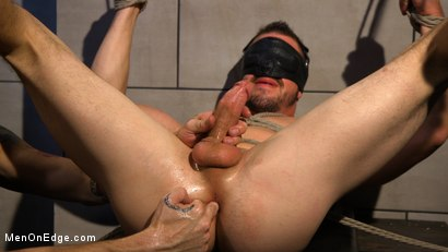 Photo number 15 from Straight Beefcake Stud Gets Edged  shot for Men On Edge on Kink.com. Featuring Darin Silvers in hardcore BDSM & Fetish porn.