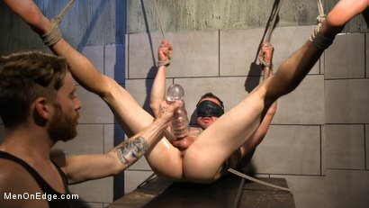 Photo number 16 from Straight Beefcake Stud Gets Edged  shot for Men On Edge on Kink.com. Featuring Darin Silvers in hardcore BDSM & Fetish porn.