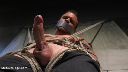 Photo number 17 from Straight Beefcake Stud Gets Edged  shot for Men On Edge on Kink.com. Featuring Darin Silvers in hardcore BDSM & Fetish porn.