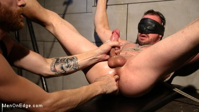 Photo number 18 from Straight Beefcake Stud Gets Edged  shot for Men On Edge on Kink.com. Featuring Darin Silvers in hardcore BDSM & Fetish porn.