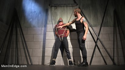 Photo number 19 from Straight Beefcake Stud Gets Edged  shot for Men On Edge on Kink.com. Featuring Darin Silvers in hardcore BDSM & Fetish porn.