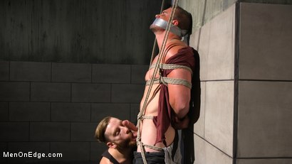 Photo number 4 from Straight Beefcake Stud Gets Edged  shot for Men On Edge on Kink.com. Featuring Darin Silvers in hardcore BDSM & Fetish porn.