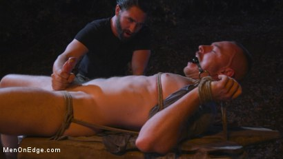 Photo number 12 from New Camper Gets Edged at Camp Perv-Anon shot for Men On Edge on Kink.com. Featuring Damien Moreau in hardcore BDSM & Fetish porn.
