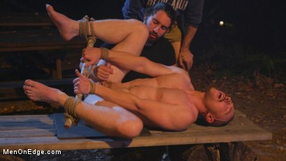 Photo number 20 from New Camper Gets Edged at Camp Perv-Anon shot for Men On Edge on Kink.com. Featuring Damien Moreau in hardcore BDSM & Fetish porn.