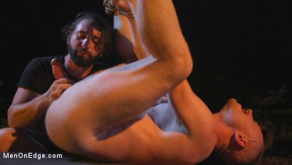 Photo number 24 from New Camper Gets Edged at Camp Perv-Anon shot for Men On Edge on Kink.com. Featuring Damien Moreau in hardcore BDSM & Fetish porn.