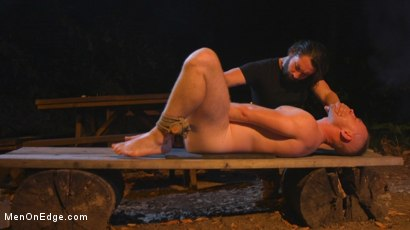 Photo number 28 from New Camper Gets Edged at Camp Perv-Anon shot for Men On Edge on Kink.com. Featuring Damien Moreau in hardcore BDSM & Fetish porn.