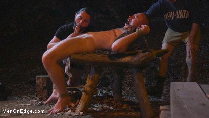 Photo number 8 from New Camper Gets Edged at Camp Perv-Anon shot for Men On Edge on Kink.com. Featuring Damien Moreau in hardcore BDSM & Fetish porn.
