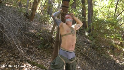 Photo number 1 from Hard Woods: Max Cameron Suspended and Tormented in California Redwoods shot for Men On Edge on Kink.com. Featuring Max Cameron in hardcore BDSM & Fetish porn.