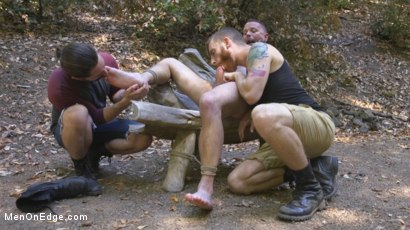 Photo number 11 from Hard Woods: Max Cameron Suspended and Tormented in California Redwoods shot for Men On Edge on Kink.com. Featuring Max Cameron in hardcore BDSM & Fetish porn.