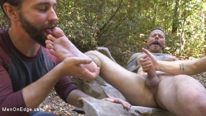 Photo number 12 from Hard Woods: Max Cameron Suspended and Tormented in California Redwoods shot for Men On Edge on Kink.com. Featuring Max Cameron in hardcore BDSM & Fetish porn.