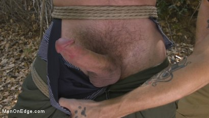 Photo number 2 from Hard Woods: Max Cameron Suspended and Tormented in California Redwoods shot for Men On Edge on Kink.com. Featuring Max Cameron in hardcore BDSM & Fetish porn.