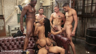 Photo number 19 from Debauchery: Cock Hungry Beauty Kira Noir Gang Banged by horny studs shot for Hardcore Gangbang on Kink.com. Featuring Kira Noir, Rob Piper, Nathan Bronson, Eddie Jaye, Jake Adams and Jay Savage in hardcore BDSM & Fetish porn.