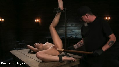 Photo number 7 from Newbie Pain Slut Cassandra Cain Coerced with Orgasms and Metal Bondage shot for Device Bondage on Kink.com. Featuring Cassandra Cain and The Pope in hardcore BDSM & Fetish porn.