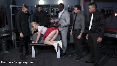 Photo number 16 from Lazy Submissive Gets Taught a Lesson by Mistress' Studs shot for Hardcore Gangbang on Kink.com. Featuring Chloe Cherry, Rob Piper, Eddie Jaye, Jake Adams, Jay Savage  and Donny Sins in hardcore BDSM & Fetish porn.