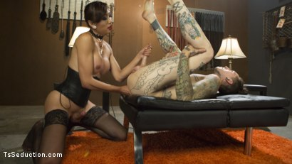 Photo number 5 from Sensual Domme Venus Lux Gets Worshiped and Fucks Her Obedient Slave  shot for TS Seduction on Kink.com. Featuring Venus Lux and Ruckus in hardcore BDSM & Fetish porn.