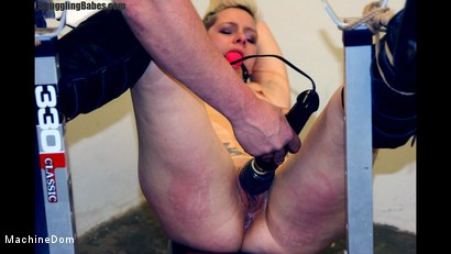 Photo number 8 from Tattooed Blonde's Pussy Punished shot for Machine Dom on Kink.com. Featuring Angel Eyes and Ronnie in hardcore BDSM & Fetish porn.