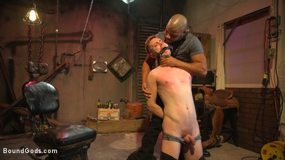 Photo number 1 from Black Stud Kaden Alexander Pounds The Fuck Out Of Kyler Ash shot for Bound Gods on Kink.com. Featuring Kyler Ash and Kaden Alexander in hardcore BDSM & Fetish porn.