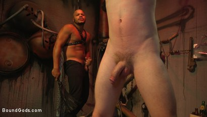 Photo number 9 from Black Stud Kaden Alexander Pounds The Fuck Out Of Kyler Ash shot for Bound Gods on Kink.com. Featuring Kyler Ash and Kaden Alexander in hardcore BDSM & Fetish porn.