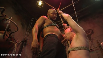 Photo number 7 from Black Stud Kaden Alexander Pounds The Fuck Out Of Kyler Ash shot for Bound Gods on Kink.com. Featuring Kyler Ash and Kaden Alexander in hardcore BDSM & Fetish porn.