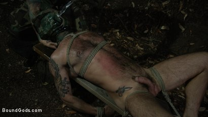 Photo number 1 from Wild Country: Hiker is Kidnapped, Bound, Fucked by Woods Survivalist  shot for Bound Gods on Kink.com. Featuring Chris Harder and Christian Wilde in hardcore BDSM & Fetish porn.