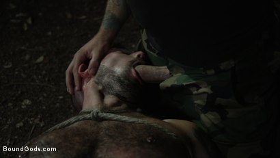 Photo number 17 from Wild Country: Hiker is Kidnapped, Bound, Fucked by Woods Survivalist  shot for Bound Gods on Kink.com. Featuring Chris Harder and Christian Wilde in hardcore BDSM & Fetish porn.