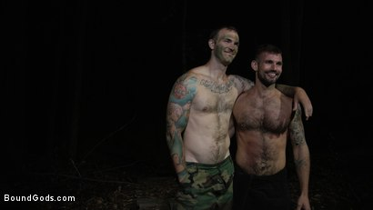 Photo number 19 from Wild Country: Hiker is Kidnapped, Bound, Fucked by Woods Survivalist  shot for Bound Gods on Kink.com. Featuring Chris Harder and Christian Wilde in hardcore BDSM & Fetish porn.