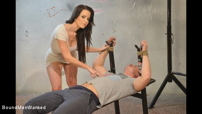 Photo number 9 from Cindy Dominates Her Sub With A Rough Handjob shot for Bound Men Wanked on Kink.com. Featuring Cindy Dollar and Greg in hardcore BDSM & Fetish porn.