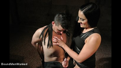 Photo number 1 from Bound Man Endures Clair's Deviances shot for Bound Men Wanked on Kink.com. Featuring Clair Brooks and Richy in hardcore BDSM & Fetish porn.