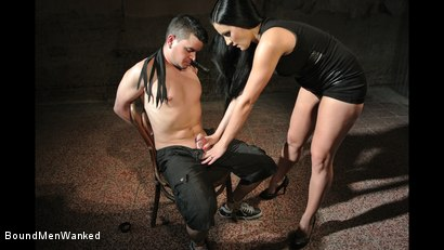 Photo number 2 from Bound Man Endures Clair's Deviances shot for Bound Men Wanked on Kink.com. Featuring Clair Brooks and Richy in hardcore BDSM & Fetish porn.