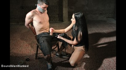 Photo number 11 from Bound Man Endures Clair's Deviances shot for Bound Men Wanked on Kink.com. Featuring Clair Brooks and Richy in hardcore BDSM & Fetish porn.