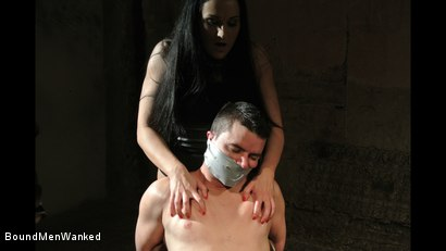 Photo number 12 from Bound Man Endures Clair's Deviances shot for Bound Men Wanked on Kink.com. Featuring Clair Brooks and Richy in hardcore BDSM & Fetish porn.