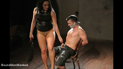 Photo number 15 from Bound Man Endures Clair's Deviances shot for Bound Men Wanked on Kink.com. Featuring Clair Brooks and Richy in hardcore BDSM & Fetish porn.