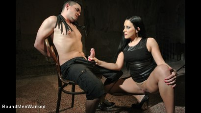 Photo number 3 from Bound Man Endures Clair's Deviances shot for Bound Men Wanked on Kink.com. Featuring Clair Brooks and Richy in hardcore BDSM & Fetish porn.