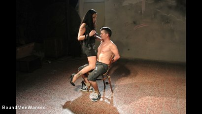 Photo number 6 from Bound Man Endures Clair's Deviances shot for Bound Men Wanked on Kink.com. Featuring Clair Brooks and Richy in hardcore BDSM & Fetish porn.