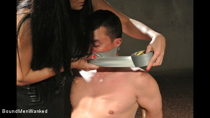 Photo number 7 from Bound Man Endures Clair's Deviances shot for Bound Men Wanked on Kink.com. Featuring Clair Brooks and Richy in hardcore BDSM & Fetish porn.