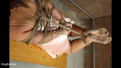 Photo number 10 from Cindy Gets Hogtied, Cleavegagged, And Stripped shot for Hogtied Up on Kink.com. Featuring Ar and Denisel in hardcore BDSM & Fetish porn.