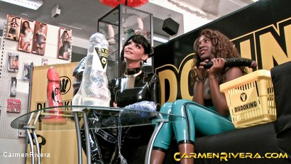 Photo number 1 from Dildo Shopping Queens: Chapter One shot for Carmen Rivera on Kink.com. Featuring Carmen Rivera, Lady Sahara and Franky in hardcore BDSM & Fetish porn.
