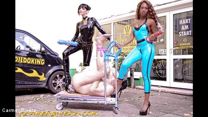 Photo number 2 from Dildo Shopping Queens: Chapter One shot for Carmen Rivera on Kink.com. Featuring Carmen Rivera, Lady Sahara and Franky in hardcore BDSM & Fetish porn.