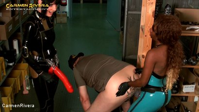 Photo number 15 from Dildo Shopping Queens: Chapter One shot for Carmen Rivera on Kink.com. Featuring Carmen Rivera, Lady Sahara and Franky in hardcore BDSM & Fetish porn.