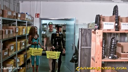 Photo number 3 from Dildo Shopping Queens: Chapter One shot for Carmen Rivera on Kink.com. Featuring Carmen Rivera, Lady Sahara and Franky in hardcore BDSM & Fetish porn.