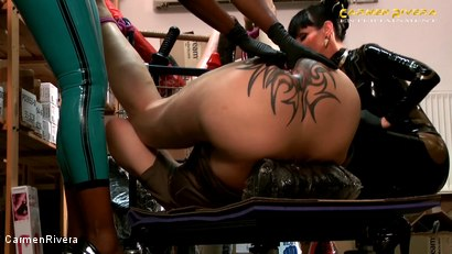 Photo number 1 from Dildo Shopping Queens: Chapter Two shot for Carmen Rivera on Kink.com. Featuring Carmen Rivera, Lady Sahara and Franky in hardcore BDSM & Fetish porn.