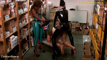 Photo number 11 from Dildo Shopping Queens: Chapter Two shot for Carmen Rivera on Kink.com. Featuring Carmen Rivera, Lady Sahara and Franky in hardcore BDSM & Fetish porn.