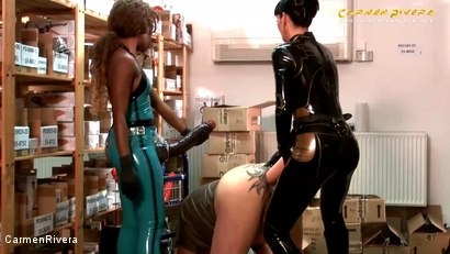 Photo number 15 from Dildo Shopping Queens: Chapter Two shot for Carmen Rivera on Kink.com. Featuring Carmen Rivera, Lady Sahara and Franky in hardcore BDSM & Fetish porn.
